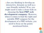 are you thinking to develop an interactive