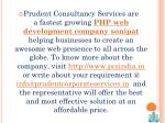 prudent consultancy services are a fastest