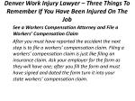 denver work injury lawyer three things to remember if you have been injured on the job 5
