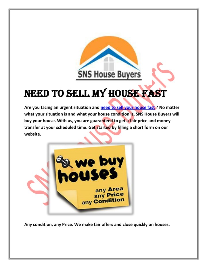 need to sell my house fast need to sell my house n.
