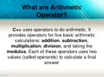what are arithmetic operator
