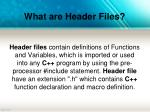 what are header files
