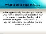 what is data type in c