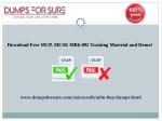 download free mcp mcse mb6 892 training material