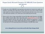 prepare easily microsoft dynamics ax mb6 892 exam