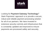 looking for payment gateway technology stark