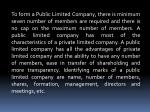 to form a public limited company there is minimum
