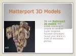 matterport 3d models