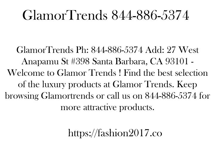glamortrends 844 886 5374 n.