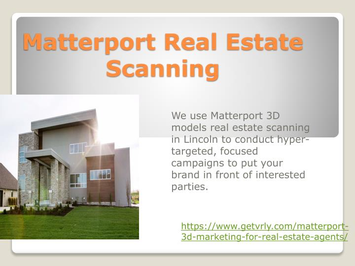 matterport real estate scanning n.
