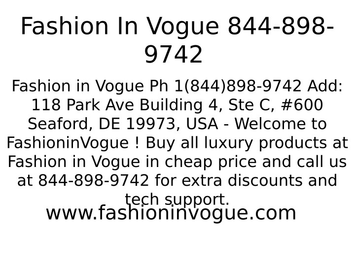 fashion in vogue 844 898 9742 n.