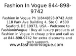 fashion in vogue 844 898 9742