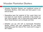 wooden plantation shutters