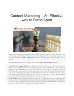 content marketing an effective way to stand apart
