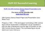 hum 102 successful learning 1