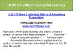 hum 176 paper successful learning 8