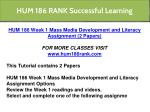 hum 186 rank successful learning 1