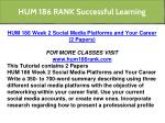 hum 186 rank successful learning 3