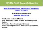 hum 186 rank successful learning 6