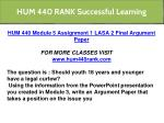 hum 440 rank successful learning 4