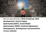 we are specializing in web designing