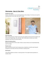 cleansweep how to clean glass