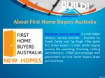 about first home buyers australia