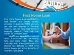 first home loan