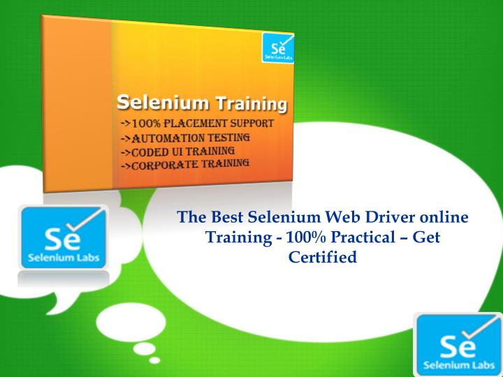 the best selenium web driver online training n.