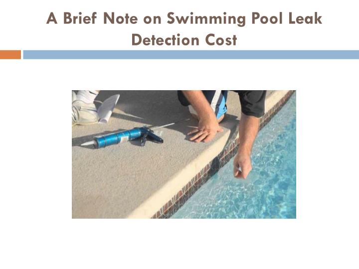 a brief note on swimming pool leak detection cost n.