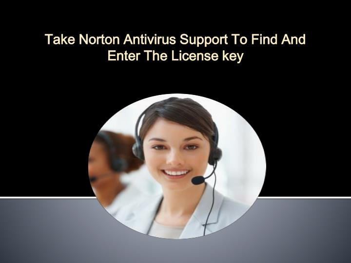 take norton antivirus support to find and enter n.