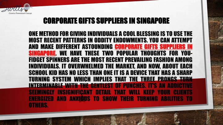 corporate gifts suppliers in singapore n.