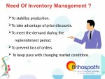 need of inventory management