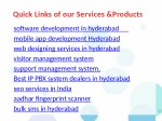 quick links of our services products