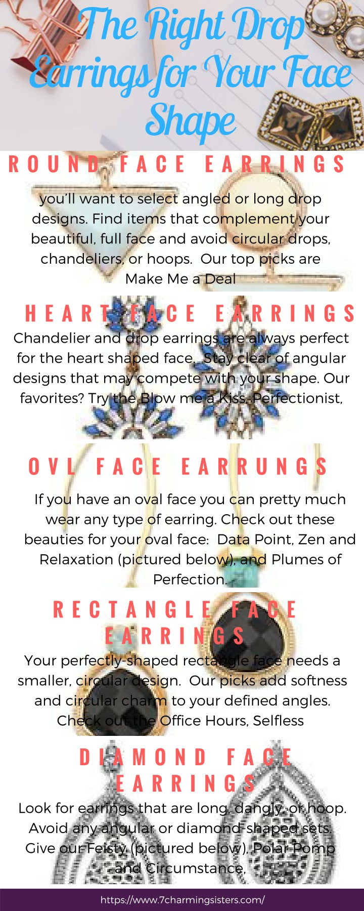 the right drop earrings for your face shape n.