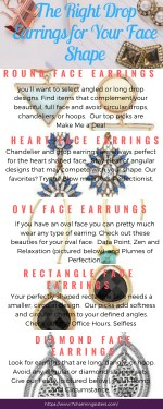 the right drop earrings for your face shape