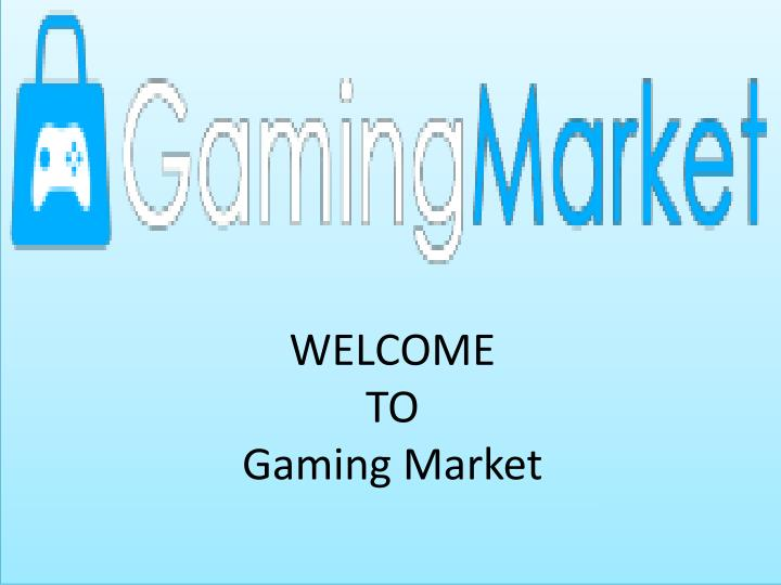 welcome to gaming market n.