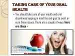 taking care of your oral health