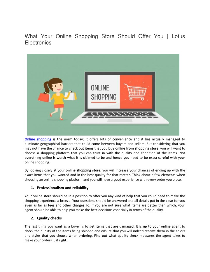 what your online shopping store should offer n.
