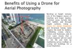 benefits of using a drone for aerial photography