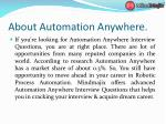 about automation anywhere