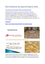 best sandstone by imperial exports india