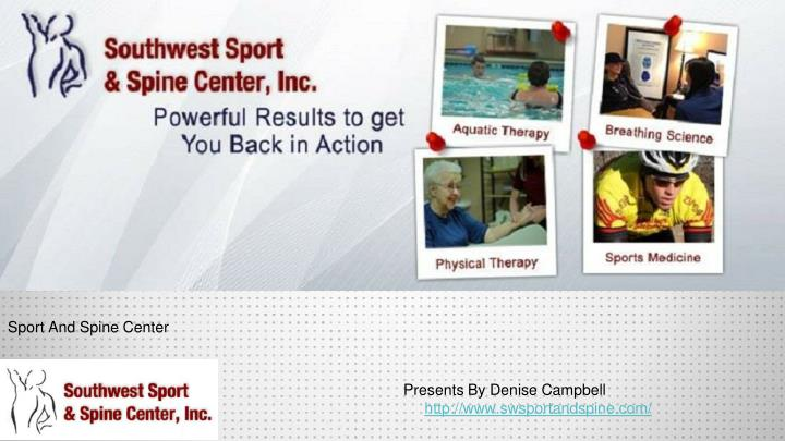 sport and spine center n.