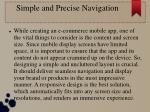 simple and precise navigation
