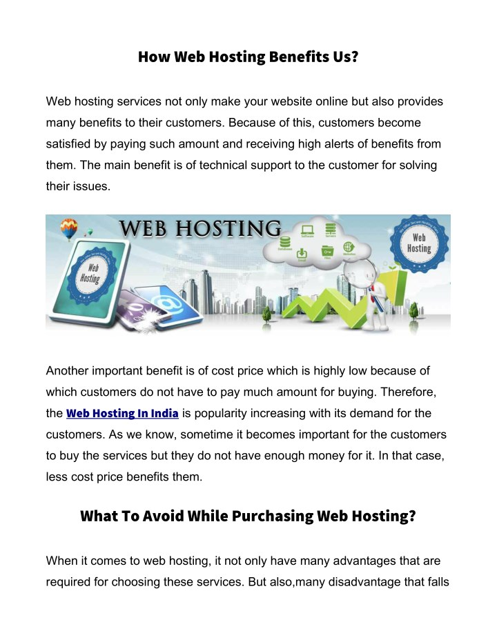how web hosting benefits us n.