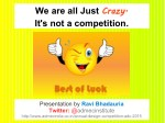 we are all just crazy it s not a competition
