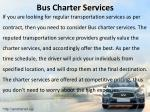 bus charter services