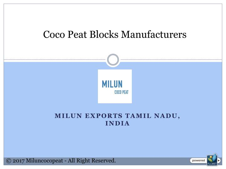 coco peat blocks manufacturers n.