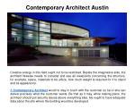contemporary architect austin
