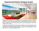 experienced interior designer austin